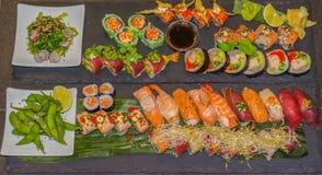 Bandeja do sushi Fotos de Stock Royalty Free