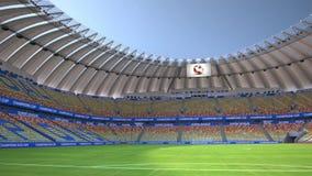 Bandeja em torno do estádio de futebol vazio ilustração royalty free