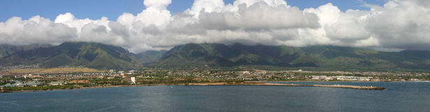 Bandeja larga do ângulo de Maui Havaí Fotos de Stock Royalty Free