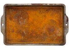 Bandeja oxidada del metal Fotografía de archivo