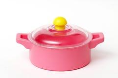 Bandeja plástica cor-de-rosa Imagens de Stock Royalty Free