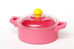 Bandeja plástica cor-de-rosa Foto de Stock