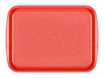 Bandeja plástica roja de la comida Imágenes de archivo libres de regalías