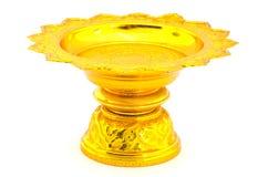 Bandeja tailandesa del oro Imagen de archivo libre de regalías