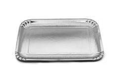 Bandeja vacía de la comida del papel de plata Foto de archivo