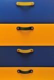 Bandejas coloreadas Fotos de archivo libres de regalías