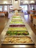 Bandejas de la comida fría Imagen de archivo libre de regalías