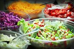 Bandejas de la comida fría Fotos de archivo