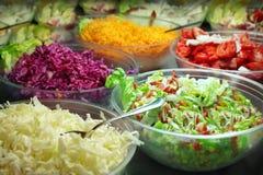 Bandejas de la comida fría Imagenes de archivo