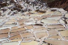 Bandejas de sal de Maras Imagem de Stock Royalty Free