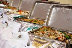 Bandejas heated de la comida fría imágenes de archivo libres de regalías