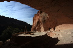 Bandelier National Monument. 'Alcove House' a remote part of Ancestral Pueblo village in Frijoles Canyon Stock Photos