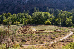 Bandelier National Monument. Ancient pueblo ruins at Bandelier National Monument, NM Stock Photo