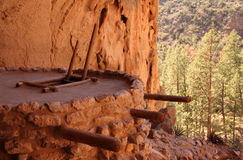 Bandelier National Monument. Ancient Anasazi Ruins Site in Bandelier National Monument, New Mexico Stock Image