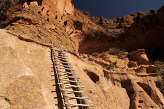 Bandelier National Monument. Ancient Anasazi Ruins Site in Bandelier National Monument, New Mexico Stock Photo