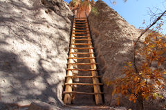 Bandelier National Monument. Ancient Anasazi Ruins Site in Bandelier National Monument, New Mexico Stock Images