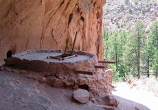 Bandelier National Monument Kiva at Alcove house royalty free stock images