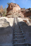 Bandelier National Monument 14. Ladders to  Alcove house on Ceremonial Cave Royalty Free Stock Image