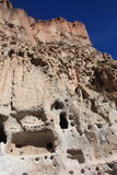Bandelier National Monument, New Mexico. Cliff dwellings at Bandelier National Monument in New Mexico, USA Stock Photo