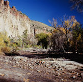 Bandelier National Monument - New Mexico. Scenic autumn perspective along the Main Loop Trail at Bandelier National Monument, north central New Mexico Royalty Free Stock Photos
