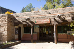 Bandelier National Monument Visitor Center. Visitor Center at Bandelier National Monument in New Mexico Stock Photography