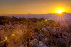 Bandelier soluppgång Arkivfoton