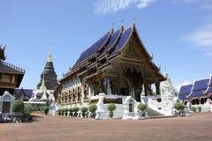 Banden寺庙,在chiangmai的美丽的寺庙 免版税库存照片