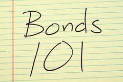 Banden 101 op een Geel Wettelijk Stootkussen Stock Foto