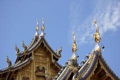 Banden tempel, härlig tempel i chiangmai Arkivfoto