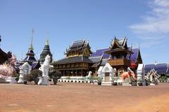 Banden tempel, härlig tempel i chiangmai Royaltyfri Bild