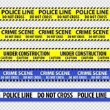 Banden van de politie de gele voorzichtigheid stock illustratie