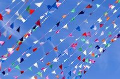 Banderín de la secuencia de la bandera del triángulo Imagen de archivo libre de regalías