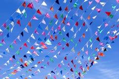 Banderín de la secuencia del triángulo Foto de archivo libre de regalías