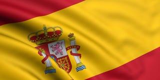 banderą Hiszpanii Zdjęcie Stock