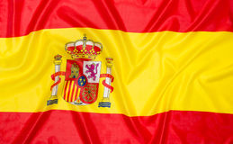 banderą Hiszpanii Obrazy Stock