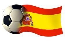 banderą Hiszpanii Zdjęcia Stock