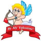 Bandera 01 de la tarjeta del día de San Valentín Foto de archivo libre de regalías