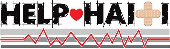 Bandera 2 de Haití de la ayuda stock de ilustración
