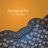Bandera aborigen del arte Bandera del vector con el texto Fotos de archivo