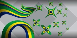 Bandera abstracta colorida del fondo Foto de archivo libre de regalías
