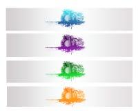 Bandera abstracta colorida del vector de la ciudad Foto de archivo libre de regalías