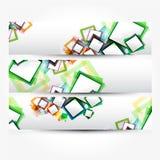 Bandera abstracta con las formas de bastidores vacíos para usted Fotografía de archivo libre de regalías