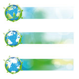 Bandera abstracta de la ecología Imagen de archivo libre de regalías