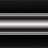 Bandera abstracta de la etiqueta del metal en vector negro de la malla del círculo Imágenes de archivo libres de regalías