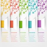 Bandera abstracta de la plantilla del triángulo Sistema de color Fotos de archivo libres de regalías
