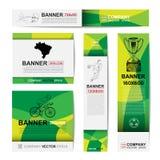 Bandera abstracta del deporte para los anuncios del sitio web Foto de archivo libre de regalías