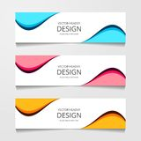 Bandera abstracta del diseño, plantilla del web, plantillas del jefe de la disposición, ejemplo moderno del vector fotografía de archivo libre de regalías