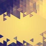 Bandera abstracta del fondo de triángulos Fotografía de archivo