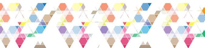 Bandera abstracta del fondo del triángulo de la malla del color para el jefe del sitio Fotos de archivo libres de regalías