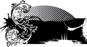 Bandera abstracta del grunge con el tono medio stock de ilustración